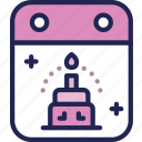 birthday, born, cake, celebration, gift, new icon