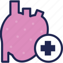 clinic, heart, hospital, medical, medicine, treatment icon