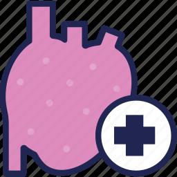 clinic, heart, hospital, medical, medicine, treatment icon