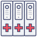 medical, archive, report, document icon