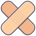 bandage, bandages, medical, patch icon