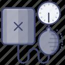 blood, medical, pressure, sphygmomanometer icon