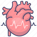 cardiogram, heart, heartbeat, pulse icon
