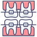 braces, care, dental, tooth icon