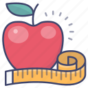 apple, diet, fitness, health icon