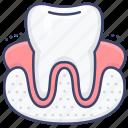dental, dentist, gum, tooth icon
