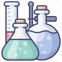 chemistry, instruments, lab, laboratory icon