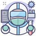 contagious, infection, protective, suit icon