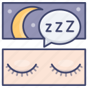 dream, rest, sleep, sleeping icon