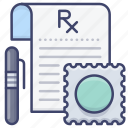 drugs, formula, medicine, prescription icon