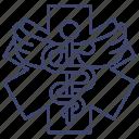 caduceus, emergency, healthcare, medical icon