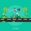 bicycle, cycling, fitness, healthy, medical, sport icon