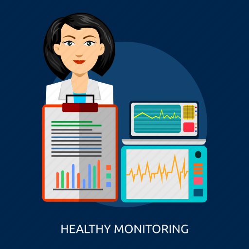 docter, healthy monitoring, medical, monitoring, nurse, report icon