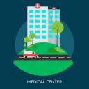 ambulance, building, clinic, hospital, medical, medical center