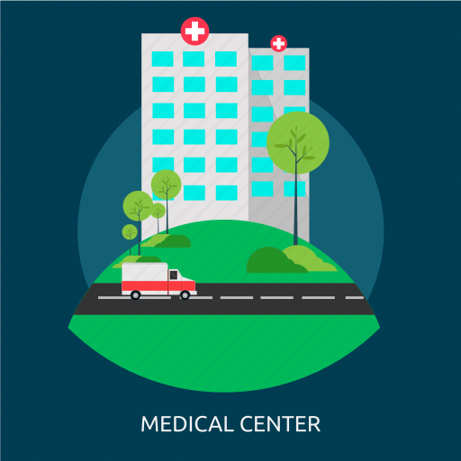 ambulance, building, clinic, hospital, medical, medical center icon
