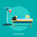 coma, fainting, medical, sick, sick room, transfusion icon