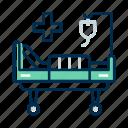 bed, hospital, stretcher