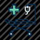 hospital, patient bed, stretcher