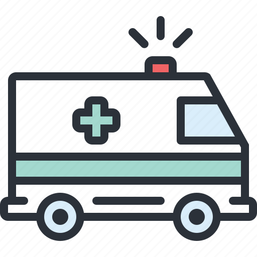 ambulance, emergency, health, hospital, medical, transportation icon