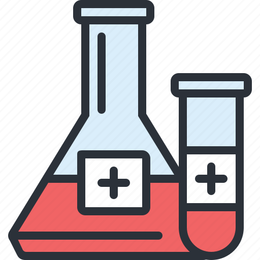 blood, health, hospital, medical, research, vials icon