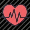 beat, health, heart, hospital, medical, organ, pulse icon