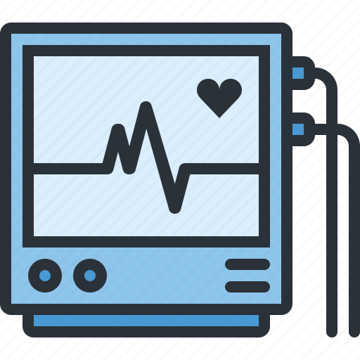 health, heart, hosptial, medical, monitor, pulse icon