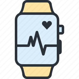 health, heart, hosptial, medical, monitor, smart watch, watch icon