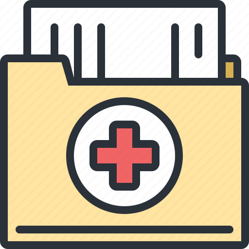 documents, file, health, hospital, medical, results icon
