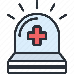 ambulance, emergency, health, hospital, siren icon