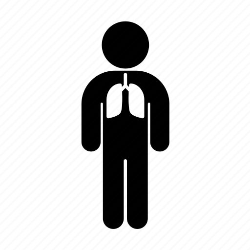 lungs, medicine, person, pulmonology icon