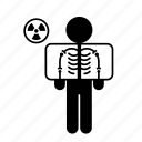 interventional radiology, medicine, person, skeleton, x-ray icon