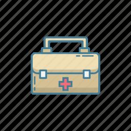 briefcase, doctor, emergency, equipment, medic, suitcase icon