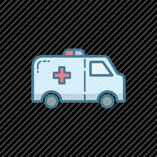 ambulance, car, emergency, medical, paramedic, support, vehicle icon