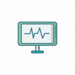bpm, ekg, examine, hospital, icu, medic, monitor icon