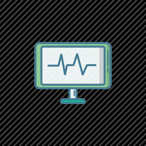 bpm, ekg, examine, hospital, icu, medic, monitor icon
