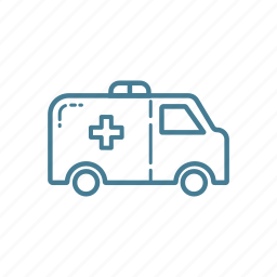 ambulance, car, emergency, medic, medical, support, vehicle icon