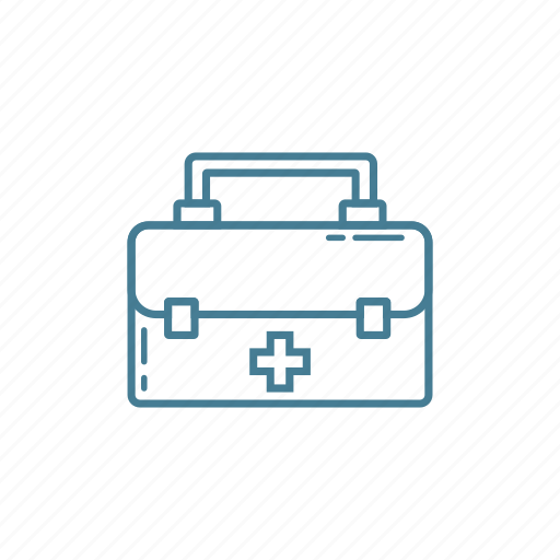 box, briefcase, doctor, equipment, medical, suitcase icon