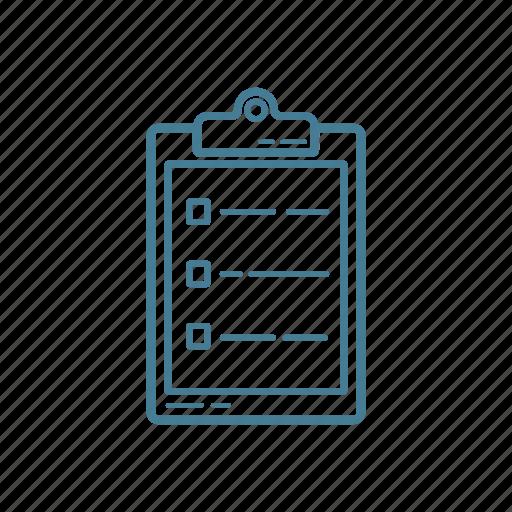 checklist, clipboard, medical, nurse, records, report icon