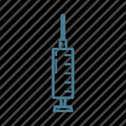 cure, injection, needle, syringe, vaccine icon