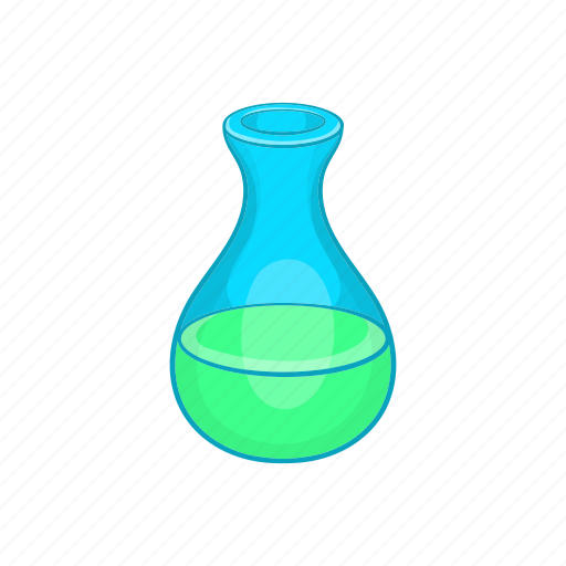 cartoon, chemistry, equipment, experiment, flask, laboratory, medicine icon