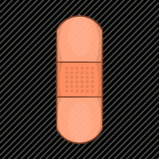 bandage, cartoon, health, medicine, plaster, protection, wound icon
