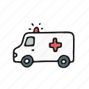 ambulance, color, doctor, medical icon