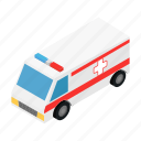 accident, aid, ambulance, car, doctor, isometric, medical icon