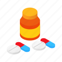 bank, chemistry, dose, drug, isometric, pill, tablet icon
