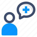 customer support, helpdesk, medical advice, medical assistance, medical help icon