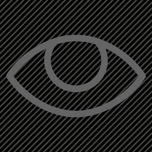 eye, iris, retina, vision icon