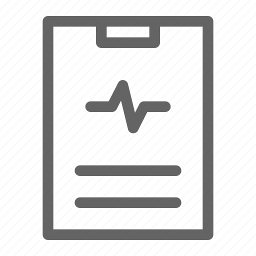 diagnosis, hospital, medical record, medical report icon