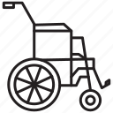 chair, medical, wheel, wheel chair icon