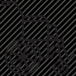 chair, medical, wheel, wheel chair icon