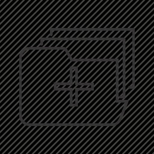document, files, folder icon